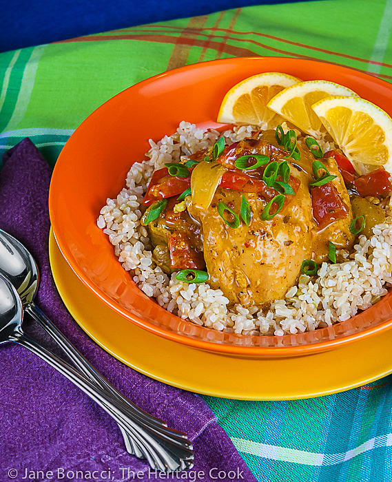 Brazilian Chicken Stew with Coconut, Lemongrass and Cilantro (Gluten-Free); 2014 Jane Bonacci, The Heritage Cook