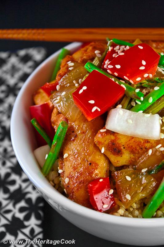 Orange Teriyaki Chicken Rice Bowls (Gluten-Free) Recipe