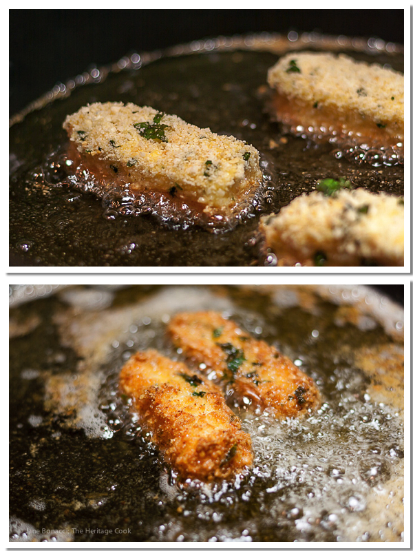 Cheesy Fried Cheese Sticks with Spicy Dipping Sauce; 2014 Jane Bonacci, The Heritage Cook