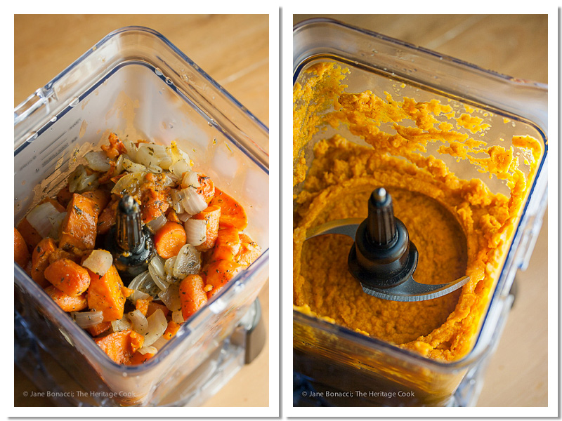 The Ninja Auto-IQ Blender makes quick work of pureeing roasted vegetables and making creamy soup