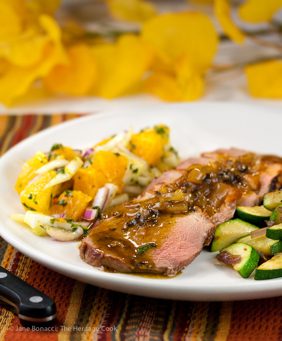 Serve this beautiful orange duck with the refreshing and bright citrus salsa for any special occasion