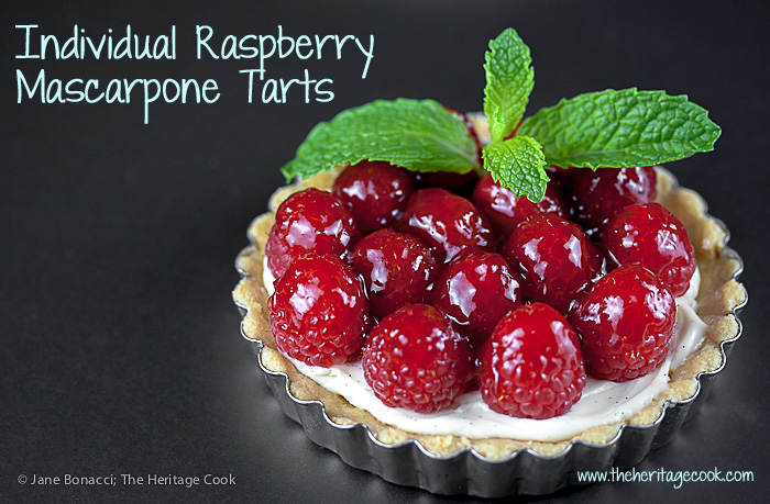 Stunning raspberry and mascarpone tarts in gluten-free crusts are a show-stopper for the holidays and special occasions.