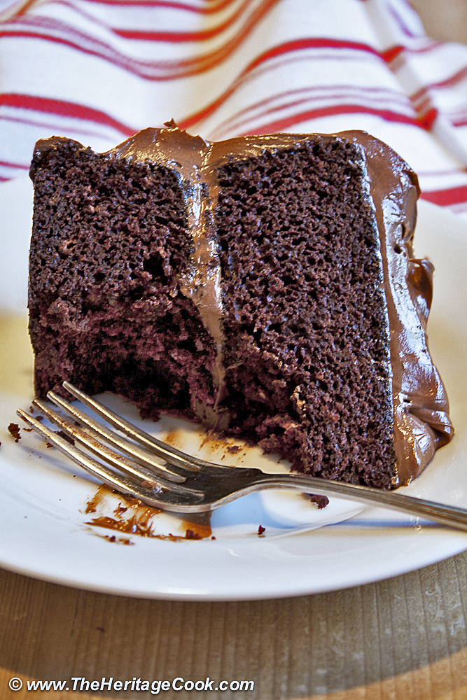 Ultimate Devil's Food Cake - Top Chocolate Monday Recipes of 2014 on The Heritage Cook