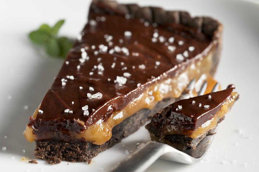 Chocolate Caramel Tart - Top Chocolate Monday Recipes of 2014 on The Heritage Cook
