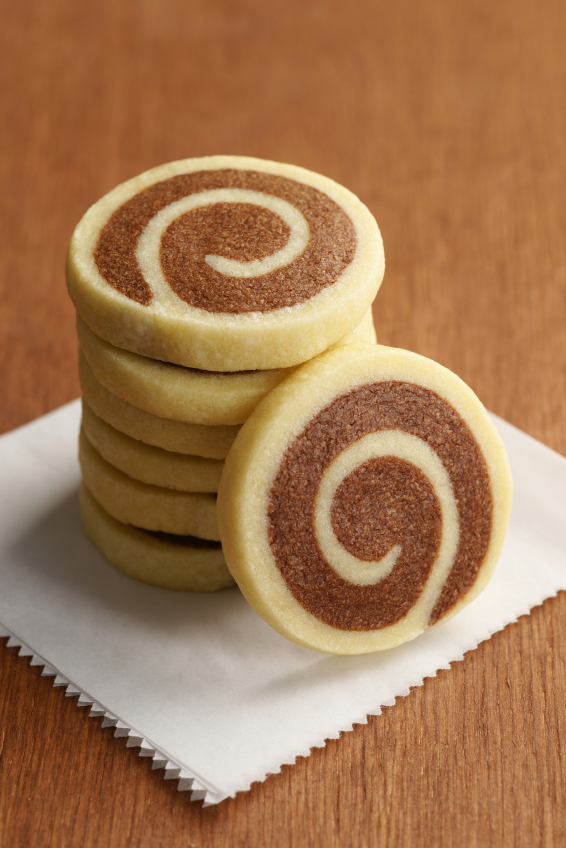 Stack of Pinwheel Cookies - Top Chocolate Monday Recipes of 2014 on The Heritage Cook