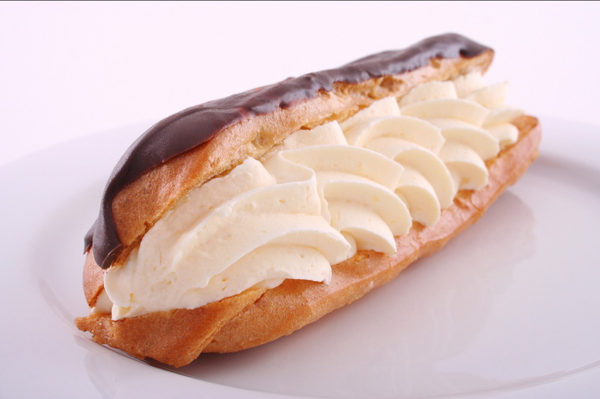 Cream Filled Eclair with Chocolate Glaze - Top Chocolate Monday Recipes of 2014 on The Heritage Cook