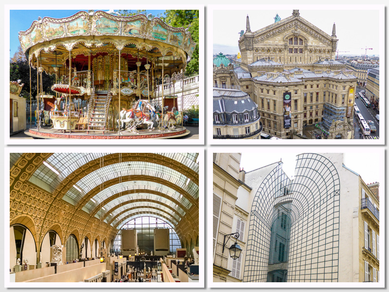 Paris, Carousel at Montmartre, Musee d'Orsay, Paris Opera House, Beaux Arts; 2015 The Heritage Cook