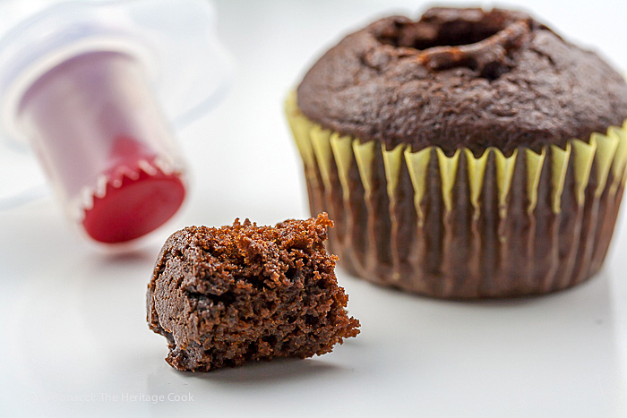 Cupcake corer; Irish Cream-Filled Chocolate Cupcakes for St. Patrick's Day; 2015 Jane Bonacci, The Heritage Cook