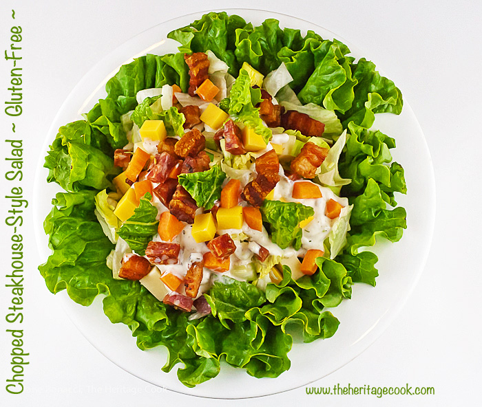 Chopped Steakhouse Style Salad; 2015 Jane Bonacci, The Heritage Cook