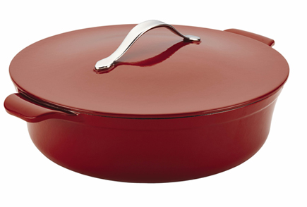 Anolon Cast Iron 5 Qt. Covered Braiser Red