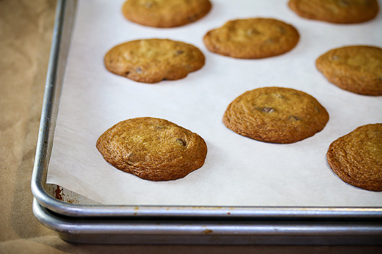 Hot from the oven; Powdered Peanut Butter Chocolate Chip Cookies SRC; 2015 Jane Bonacci, The Heritage Cook