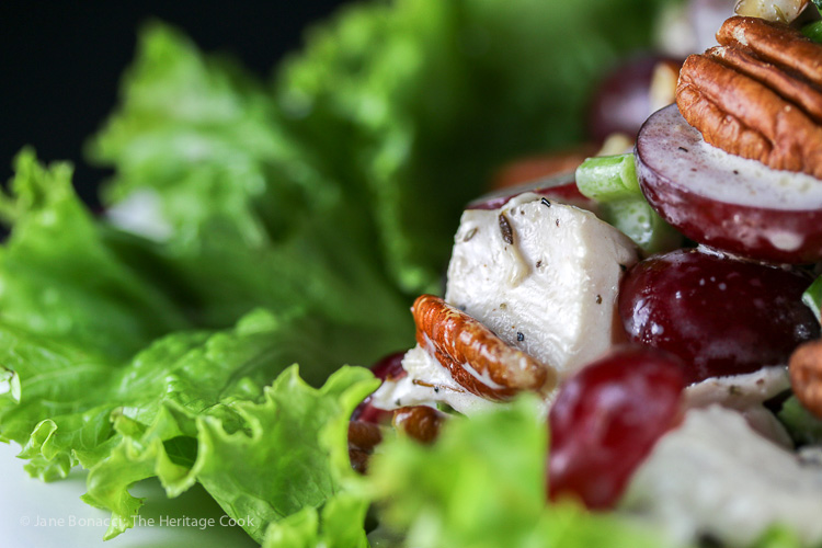Smoked Chicken Salad with Pecans and Red Grapes; 2015 Jane Bonacci, The Heritage Cook