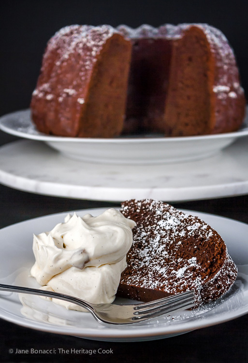 Chocolate Red Wine Bundt Cake; 2015 Jane Bonacci, The Heritage Cook