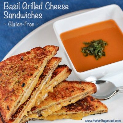 The Ultimate Comfort Food – Crispy Basil Grilled Cheese Sandwiches