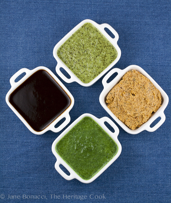 4 Sauces for Grilled Foods; Jane Bonacci, The Heritage Cook
