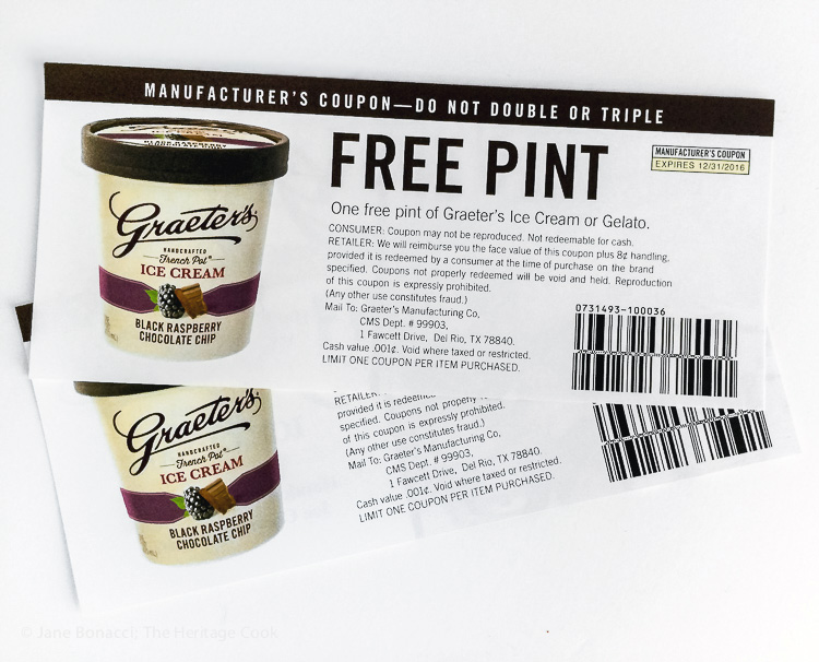 Win 2 pints of your choice; Graeters Ice Cream Images 2016