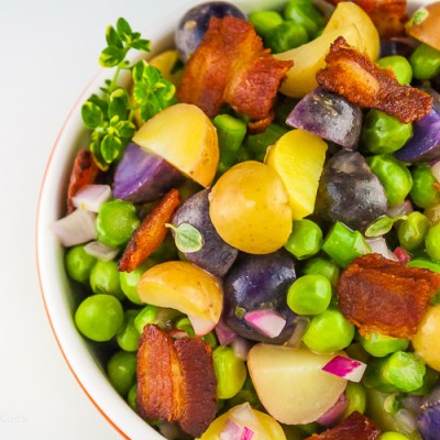 Potato, Spring Vegetable, and Bacon Salad with Lemon Vinaigrette (Gluten-Free)