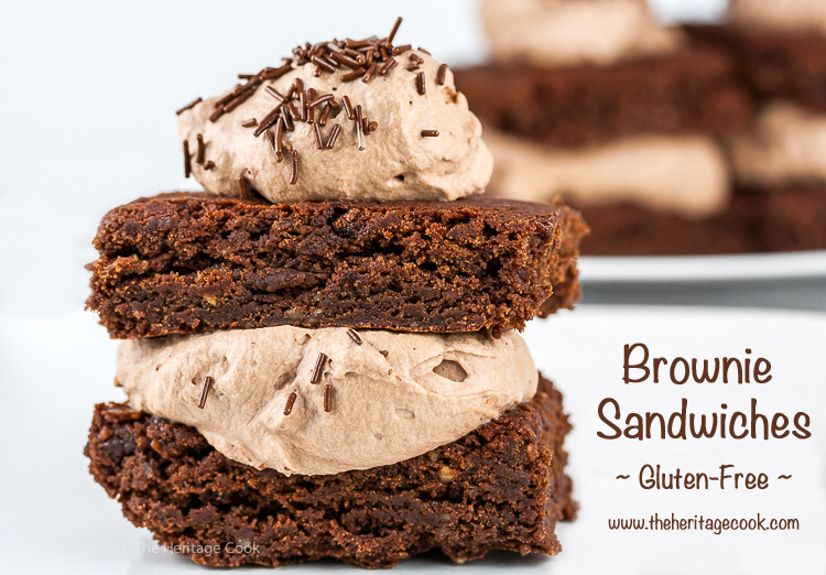 Gluten Free Brownie Sandwiches; 2016 Jane Bonacci, The Heritage Cook