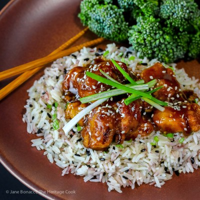General Tso's Chicken from Phoenix Claws and Jade Trees (Gluten-Free)