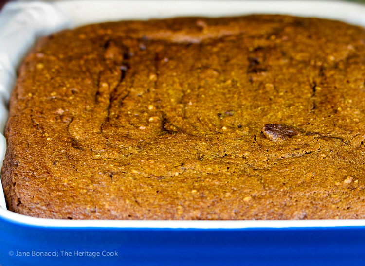 Hot from the oven! Pumpkin Swirl Brownies #SecretRecipeClub; © 2016 Jane Bonacci, The Heritage Cook