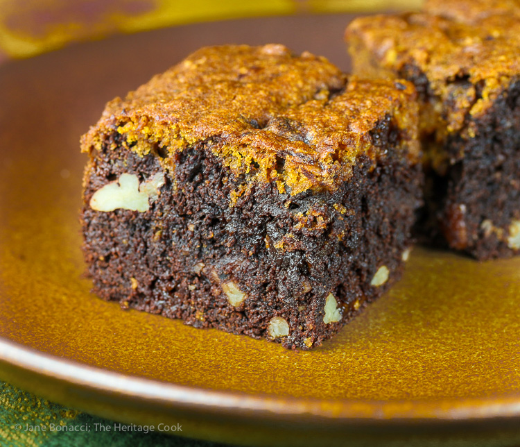 Pumpkin Swirl Brownies #SecretRecipeClub; © 2016 Jane Bonacci, The Heritage Cook