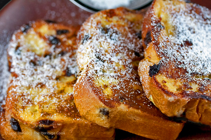 Chocolate Chip Brioche French Toast © Jane Bonacci, The Heritage Cook, all rights reserved