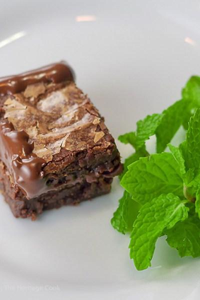 Chocolate Ganache Filled Brownie Sandwiches (Gluten Free)