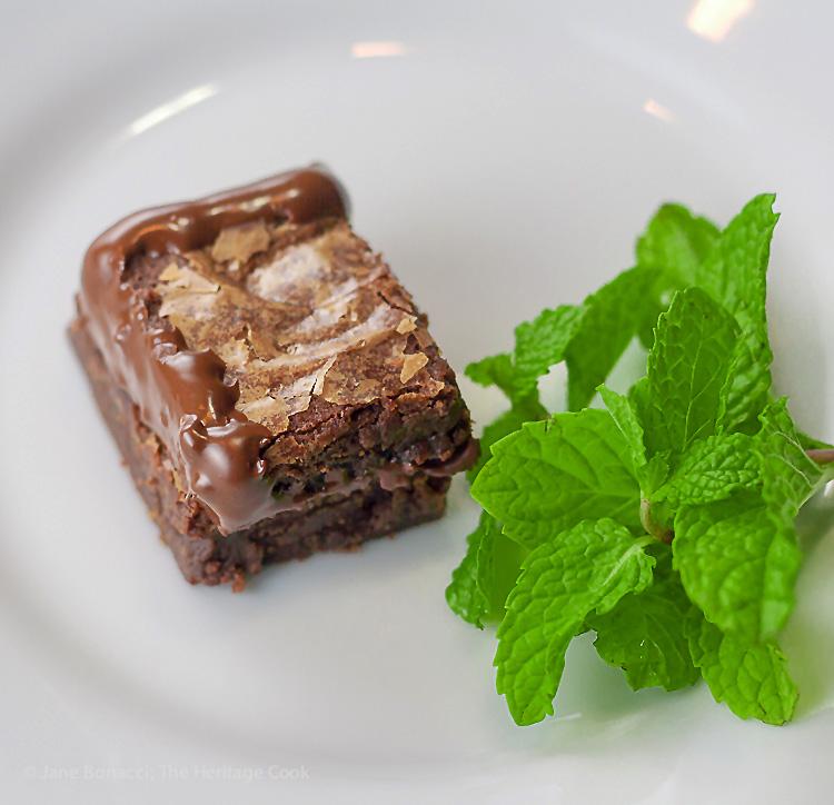 Gluten Free Chocolate Ganache Filled Brownie Sandwiches © 2017 Jane Bonacci, The Heritage Cook