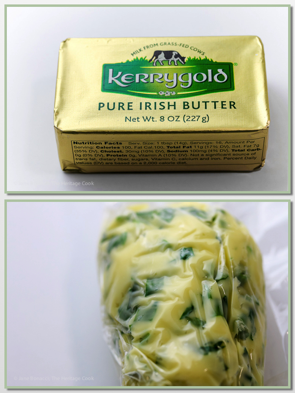 Use Kerrygold Butter to make your Compound butter! Leek and Bacon Irish Colcannon, mashed potatoes with cabbage and onions; © 2017 Jane Bonacci, The Heritage Cook