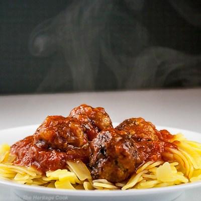 Gluten Free Italian Sausage Meatballs with Homemade Marinara Sauce