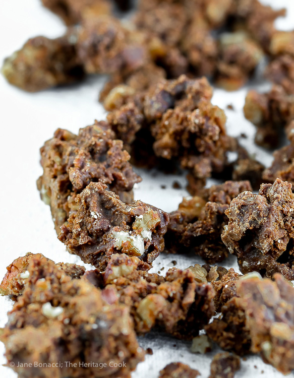 Praline Candy Crumble; Mardi Gras Chocolate Pralines or Crumble (Gluten-Free) © 2017 Jane Bonacci, The Heritage Cook
