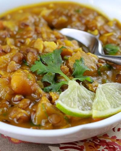 Kabocha Squash, Lentil, and Coconut Stew (Gluten-Free & Vegetarian)
