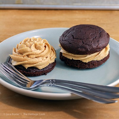 Chocolate Whoopie Pies with Creamy Peanut Butter Filling (Gluten-Free)