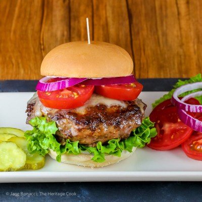 Celebrate #BurgerMonth with French Duck Confit Burgers with Gruyere (Gluten-Free)