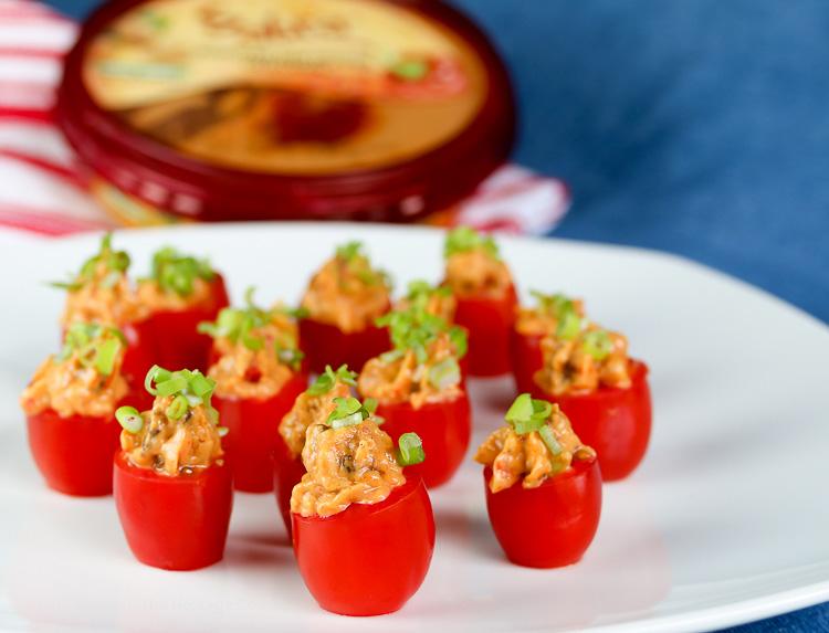 Hummus and Sausage-Stuffed Tomatoes © 2017 Jane Bonacci, The Heritage Cook