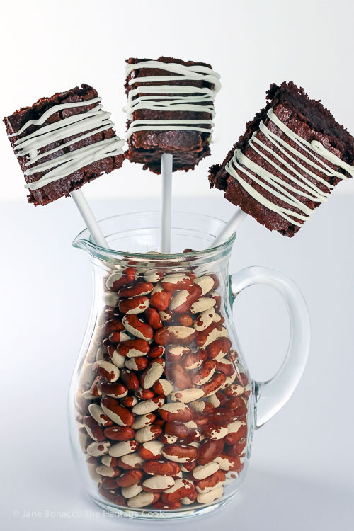 Gluten Free Brownie Pops on Sticks © 2017 Jane Bonacci, The Heritage Cook