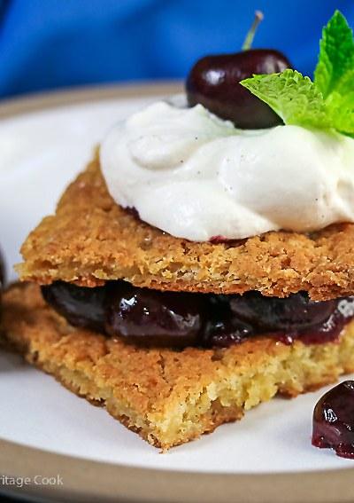 Fresh Cherry Shortcake with White Chocolate Whipped Cream (Gluten-Free)