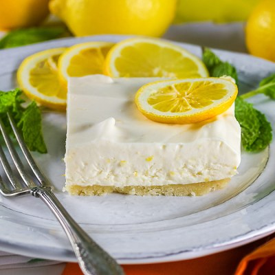 Frozen Lemon Bars with an Almond Crust (Gluten-Free)