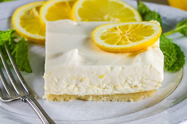 Frozen Lemon Bars with an Almond Crust (Gluten-Free)