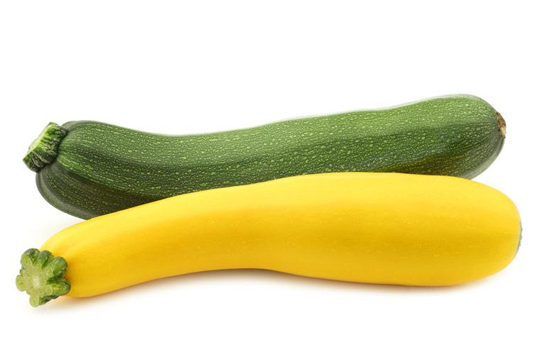 Green and yellow zucchini; Gluten Free Summer Orzo Pasta Salad; Jane Bonacci, The Heritage Cook