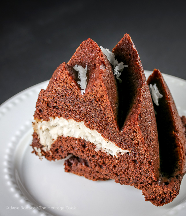 Chocolate Almond Coconut Cake © 2017 Jane Bonacci, The Heritage Cook
