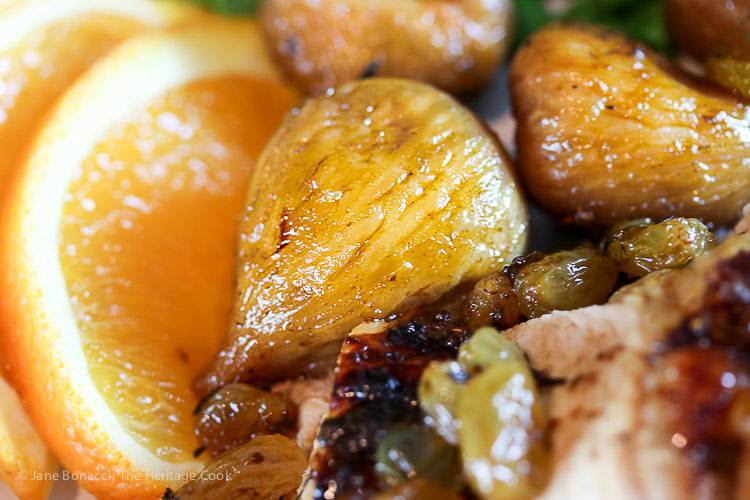 Roast Chicken with Fig Glaze and Ginger-Fig Compote & the Valley Fig Growers Road Trip © 2017 Jane Bonacci, The Heritage Cook