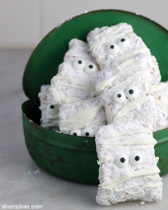 Mummy Buddies; Spooky Halloween Treats collection; Jane Bonacci, The Heritage Cook 2017
