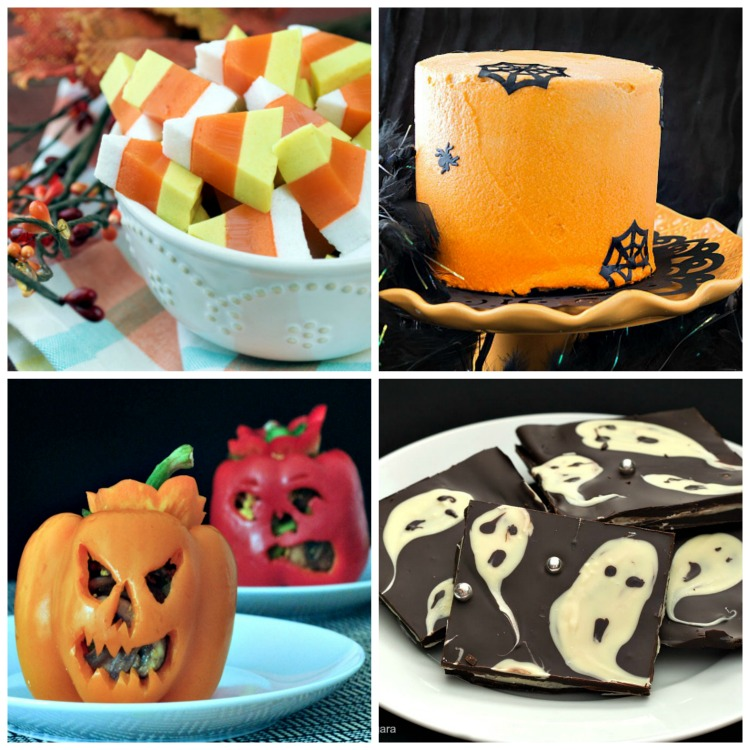 Collage 1; Spooky Halloween Treats collection; Jane Bonacci, The Heritage Cook 2017
