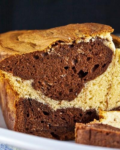 Swirled Chocolate Loaf Cake (Gluten-Free)