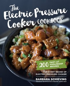 Electric Pressure Cooker Cookbook cover; 2017 Holiday Gift List for Cook from The Heritage Cook; Jane Bonacci, The Heritage Cook