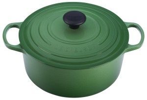 Green Dutch Oven by Le Creuset; 2017 Holiday Gift List for Cook from The Heritage Cook; Jane Bonacci, The Heritage Cook