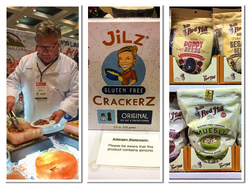 Chef Burke, Bobs Red Mill, Jilz Crackers; Walking the San Francisco Winter Fancy Food Show 2018 © 2018 Jane Bonacci, The Heritage Cook
