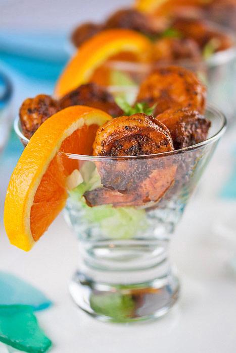 Chipotle Orange Shrimp Cocktail for Valentine's Day © 2018 Jane Bonacci, The Heritage Cook