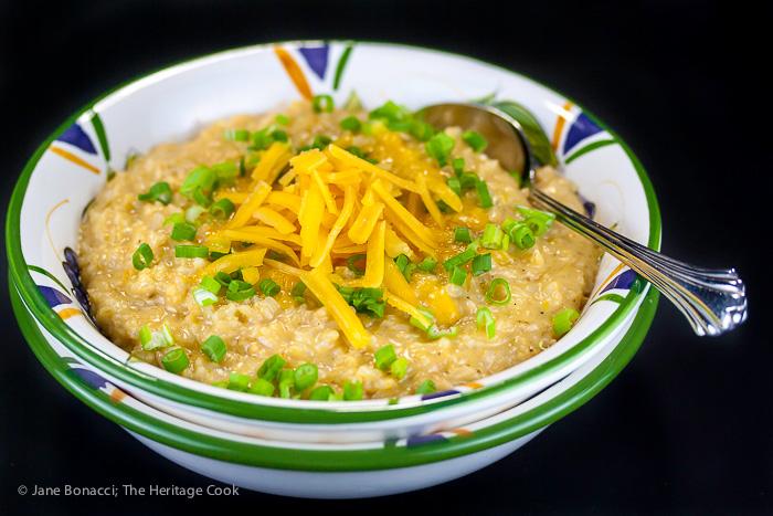 Gluten Free Creamy Rice and Cheese © 2018 Jane Bonacci, The Heritage Cook